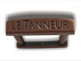 Metal chrome nameplate
