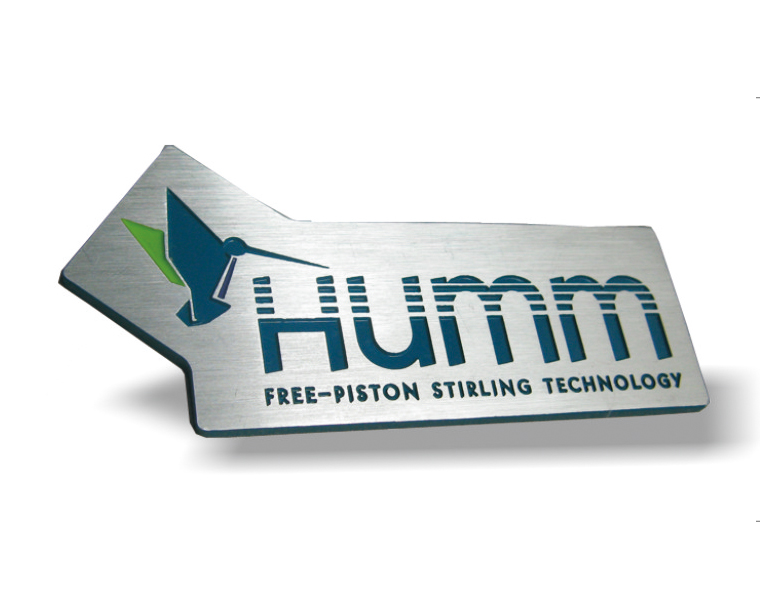 Silver Polished Humm Logo