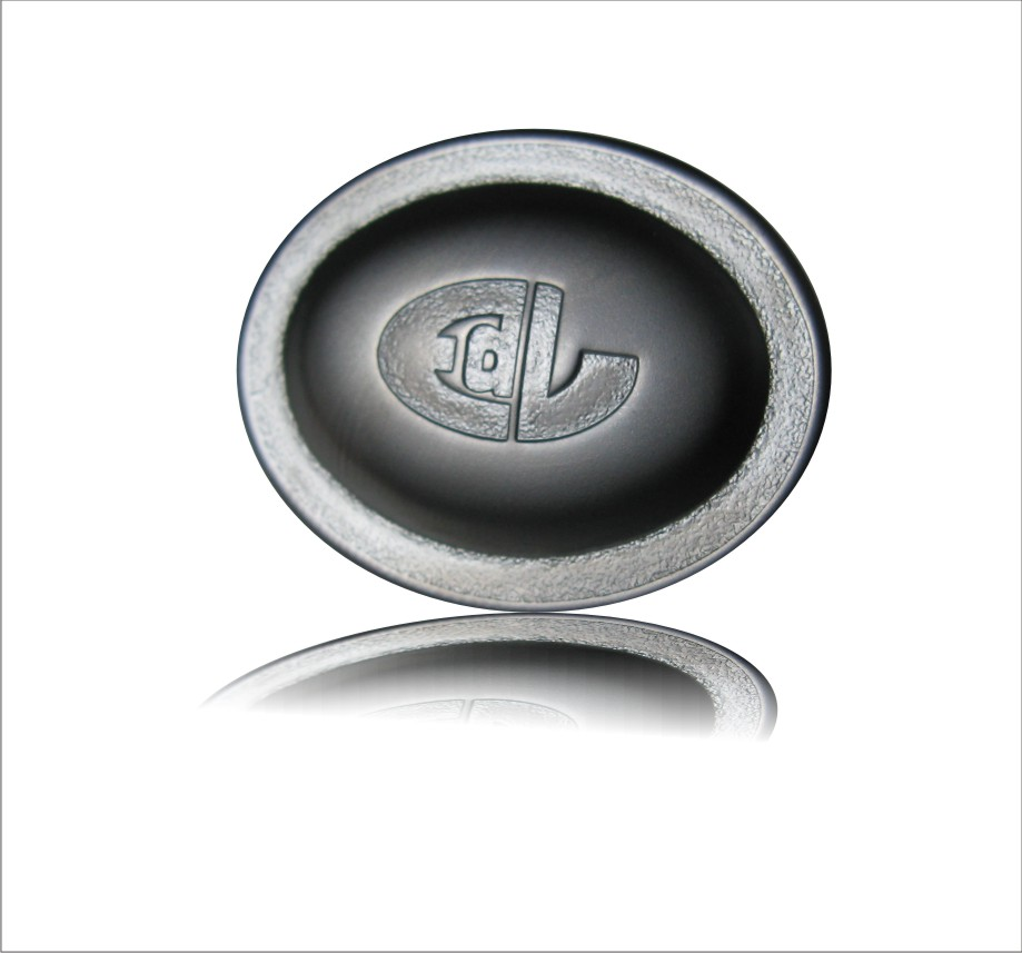 Metal Chrome Badge In Silver