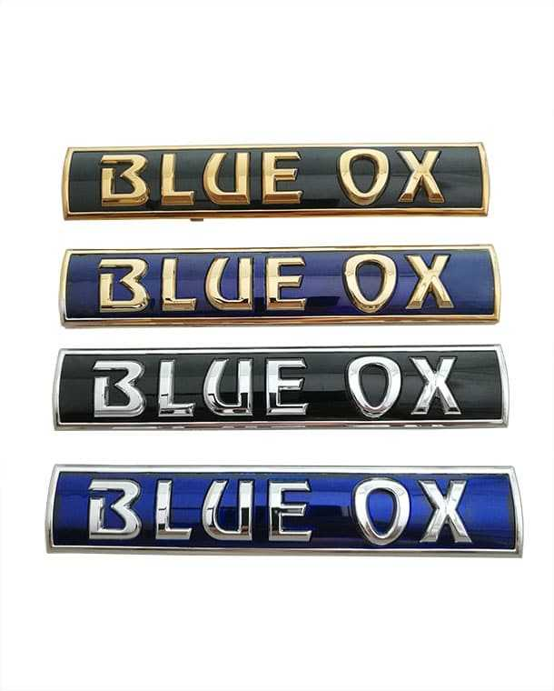 Blue Ox Name Plate